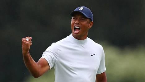 Viisi pelaajaa jakaa Mastersin kärkipaikan, Woods lyönnin päässä kärjestä