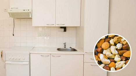 Katsahdus kuivakaappiin! Esimerkiksi pähkinät ovat voineet mennä piloille.