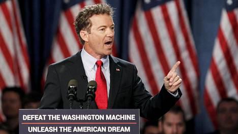 Senaattori Rand Paul ilmoitti virallisesti ehdokkuudestaan puheessaan Kentuckyn Louisvillessa tiistaina.