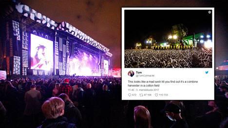 Kuva vasemmalla on Helsingin Flow-festivaalilta viime elokuussa. Oikealla oleva kuva on... hetkinen, siis mistä?