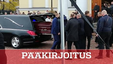 Salamurhaajan uhriksi joutunut liikemies Aleksandr Petrov siunattiin keskiviikkona Viipurissa.