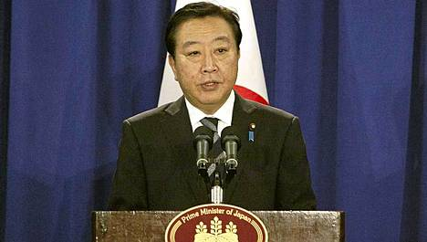 Pääministeri Yoshihiko Noda puhui tiukasti saarikiistasta.