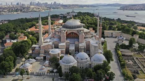 Hagia Sofia on yksi Turkin tunnetuimmista nähtävyyksistä.