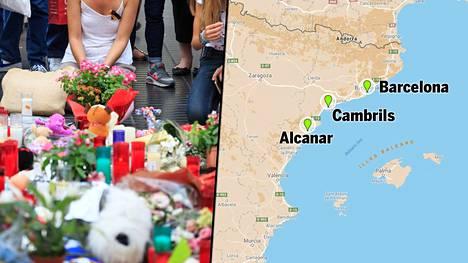 Iskut tapahtuivat Barcelonassa ja Cambrilsissa Barcelonan lähistöllä. Barcelonan isku on vei ainakin 14 ihmisen hengen, Cambrilsin yhden.