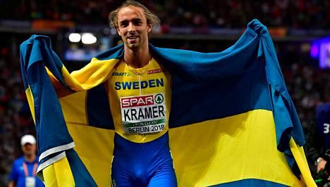Kramer voitti EM-hopeaa 800 metrillä.