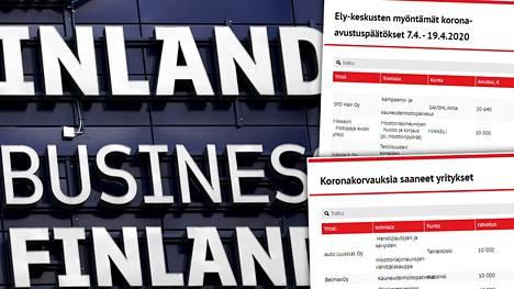 Koronaviruspandemiasta kärsivät yritykset saavat Suomessa tukea Business Finlandilta sekä Ely-keskuksilta.