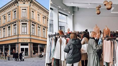Uusi kirpputori on saanut runsaasti näkyvyyttä suomalaisten vaikuttajien somekanavissa. Ennen avaamista ulkona odotteli jo asiakkaita.