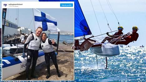 Janne Järvinen ja Sinem Kurtbay hankkivat Suomelle maapaikan Tokion olympialaisiin Nacra 17 -purjehdusluokassa.
