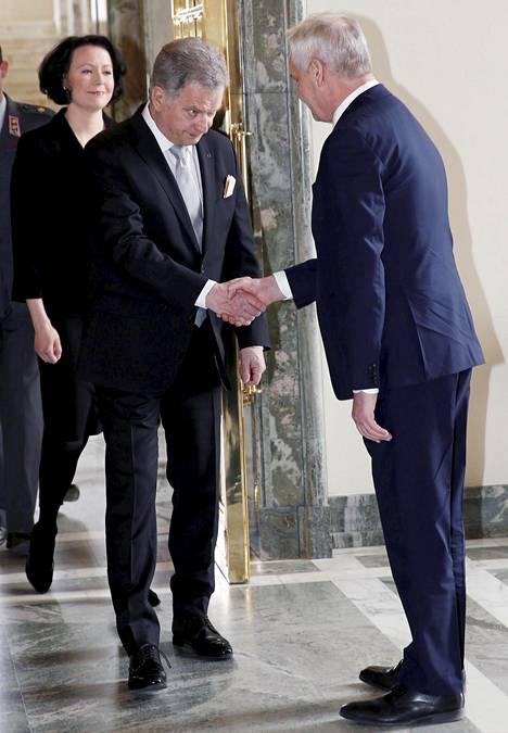 Antti Rinne ja presidentti Sauli Niinistö.