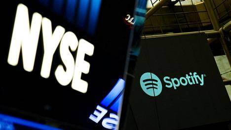 Spotifylla käytiin kauppaa ensimmäistä kertaa New Yorkin pörssissä tiistaina.