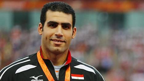 Ihab Abdelrahman voitti hopeaa Pekingin MM-kisoissa.