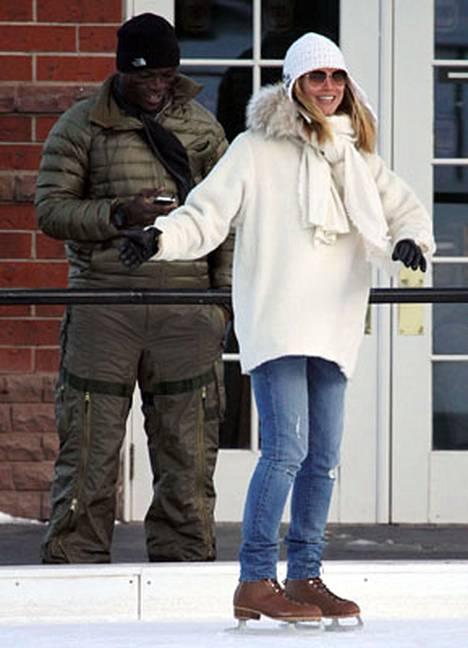 Sealia ei luistimille saatu, mutta Heidi Klum näytti viihtyvän Coloradossa jäällä.