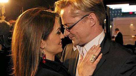 Maria ja Mikael Jungner eduskuntavaalien valvojaisissa 2011.