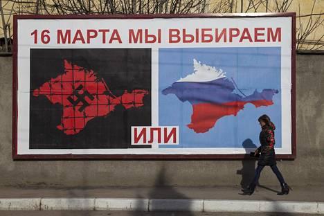 Krimillä järjestettiin 16. maaliskuuta 2014 kansaäänestys Venäjään liittymisestä.