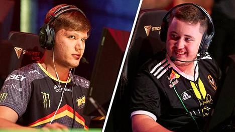 """Aleksandr """"s1mple"""" Kostyliev (vasemmalla) ja Mathieu """"ZywOo"""" Herbaut olivat toista vuotta peräkkäin maailman kaksi parasta CS-pelaajaa. Herbaut vei pidemmän korren molemmilla kerroilla."""
