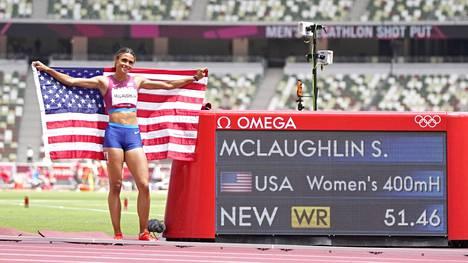 Sydney McLaughlin juoksi mielettömän ME-tuloksen.