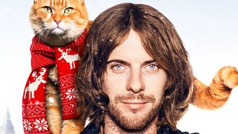 Luke Treadaway esittää katutaiteilija James Bowenia, jonka elämän kissa todella pelasti.