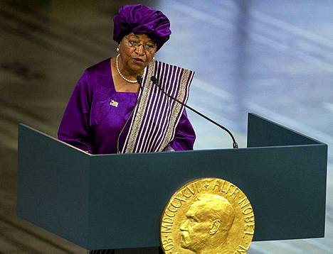 Ellen Johnson Sirleaf, 73 on Afrikan ensimmäinen demokraattisilla vaaleilla valittu naispresidentti. Marraskuussa hän sai Liberiassa pidetyissä vaaleissa jatkokauden.