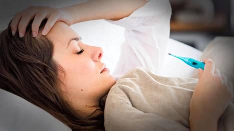 Jos influenssakuume on jo laskenut, mutta kuume nousee uudelleen, kyseessä voi olla jälkitauti.