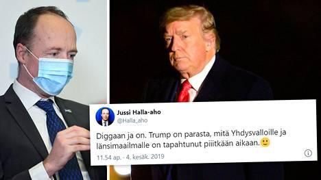 Jussi Halla-aho kommentoi aiempia mielipiteitään Donald Trumpista.