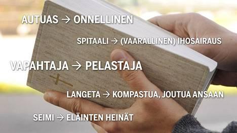 Lokakuussa Helsingin kirjamessuilla julkaistaan Uudesta testamentista versio, jonka on tarkoitus aueta aiempaa paremmin erityisesti nuoremmalle lukijakunnalle. Samalla kyytiä saavat monet hankalat ja vanhakantaiset ilmaisut.