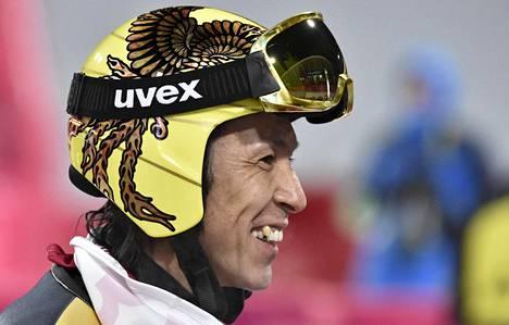 Vielä virtaa! Pyeongchangin kisat ovat Noriaki Kasaille jo uran kahdeksannet olympiatasolla. Vastaavaan ei ole yltänyt kukaan talviolympiakisojen historiassa.