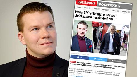 Sdp:n ehdokas Mikkel Näkkäläjärvi selvitti tekojaan Fecbookissa sen jälkeen, kun HS julkaisi selvityksen eurovaaliehdokkaiden rikossyytteistä vuosilta 2004–2019.