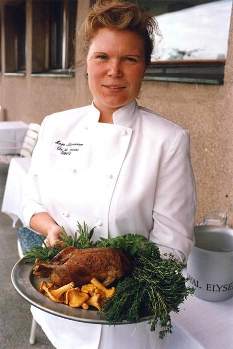 Savoyn keittiömestarina vuonna 1994.
