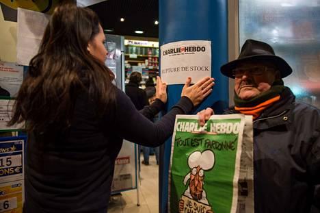 Charlie Hebdon uusi numero on loppunut monesta paikasta.