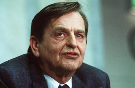 Ruotsin pääministeri Olof Palme kuvattuna joulukuussa 1983.