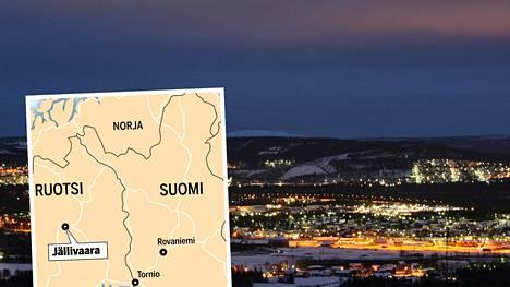 Jällivaara sijaitsee Norrbottenin läänissä, Pohjois-Ruotsissa.