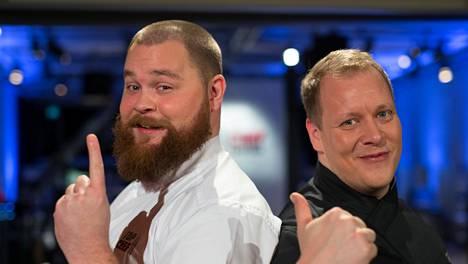 Top Chef Suomen tämän kauden ensimmäisessä kaksintaistelussa kilpailevat Akseli Herlevi ja Timo Linnamäki.