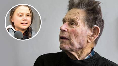 """""""Seuraan kovasti, mitä hänestä kerrotaan"""", Linkola kommentoi Greta Thunbergia."""
