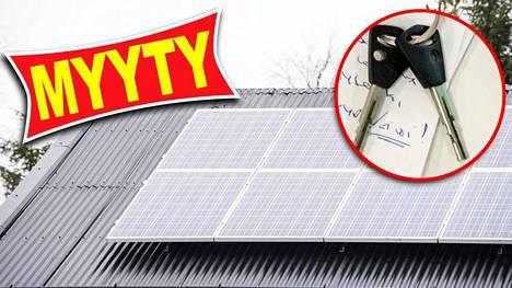 Asunnonvälittäjien mukaan aurinkopaneelit eivät ainakaan vaikeuta myyntiä.