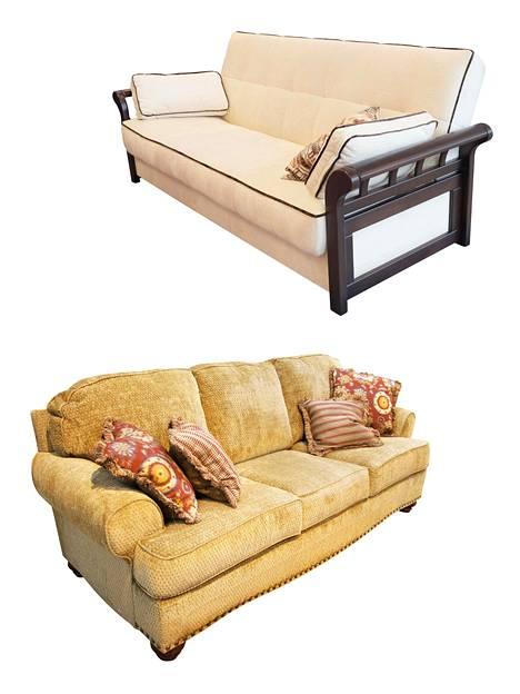 Nykyään halutaan pienempiä huonekaluja. Isot eivät aina kelpaa ihmisille. Kuvituskuva.