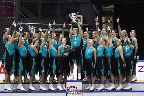 Team Fintastic voitti juniorien MM-kultaa. Kuva SM-kisoista maaliskuun alusta.