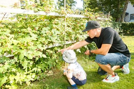 Erityisesti Mäntylän lapset nauttivat pihan marjoista.