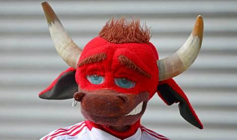 Tämä hahmo kannustaa Red Bull Leipzigia.