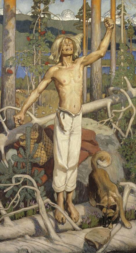 Akseli Gallen-Kallela ikuisti Kullervon maalaukseensa.