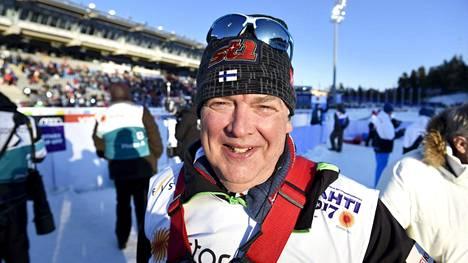Reijo Jylhä hiihdon MM-kisoissa Lahdessa vuonna 2017.