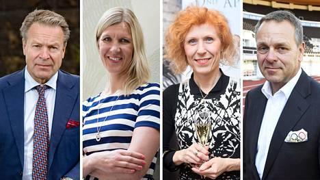 Ilkka Kanerva, Sari Multala, Susanna Rahkamo ja Jan Vapaavuori ovat ehdolla Olympiakomitean johtoon.