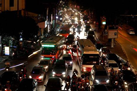 Hanoi on yksi Aasian ruuhkaista kaupungeista, mutta se ei näy Inrixin selvityksessä.