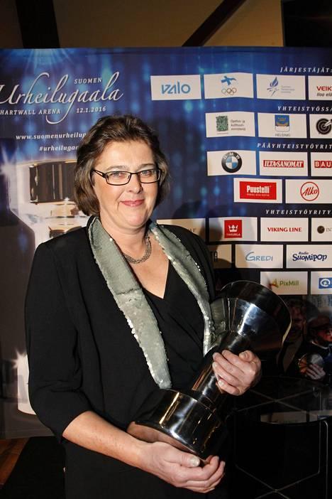 Tiina Lillak valittiin urheilun Hall of Fameen Urheilugaalassa 2016.