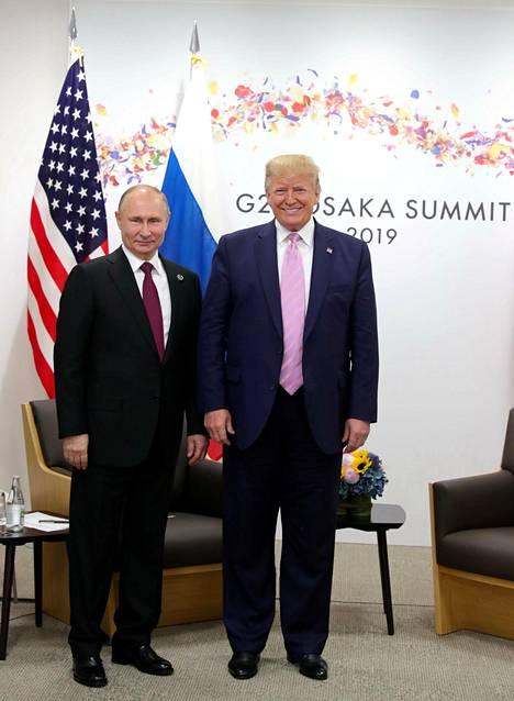 Vladimir Putin ja Donald Trump tapasivat Osakan G20-kokouksen yhteydessä 28. kesäkuuta 2019.