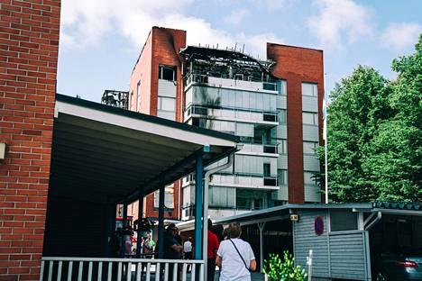 Salamanisku aiheutti tulipalon.