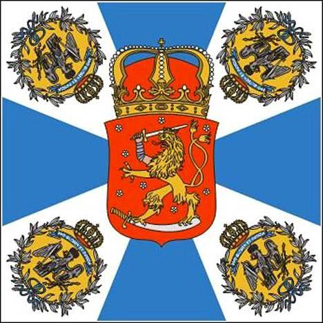 Jääkärit kantoivat voitonparaatissa Jääkärilippua, joka oli vihitty Libaussa (nyk. Liebaja) kolme kuukautta aiemmin, 13.2.1918.