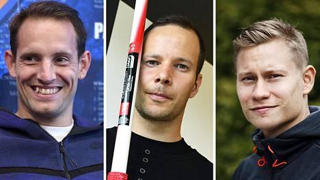Renaud Lavillenie, Tero Pitkämäki ja Oskari Mörö