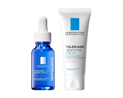 La Roche-Posay Toleriane Ultra Dermallergo Serum, 33,70 € / 20 ml. La Roche-Posay Toleriane Sensitive Crème, 25,30 € / 40 ml.