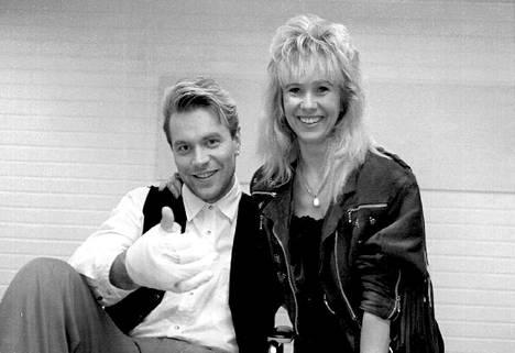 Tauski ja ensimmäinen vaimo Tina vuonna 1994.