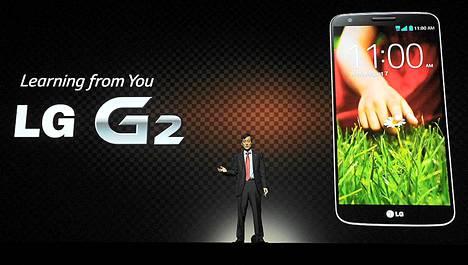 LG esitteli G2-puhelimensa New Yorkissa viime viikolla.